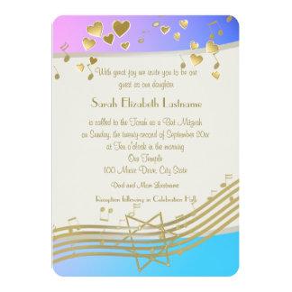 Love Songs Bat Mitzvah 13 Cm X 18 Cm Invitation Card