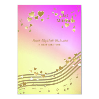 Love Songs Bat Mitzvah Personalized Announcements