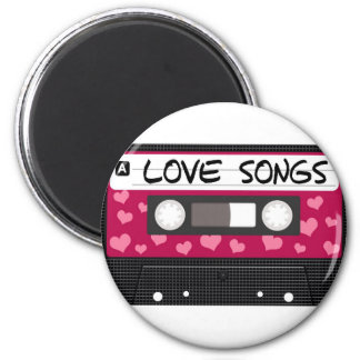 Love Songs Tape 6 Cm Round Magnet