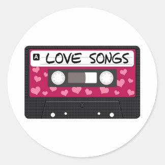 Love Songs Tape Round Sticker