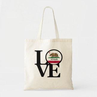 LOVE Soquel California Tote Budget Tote Bag