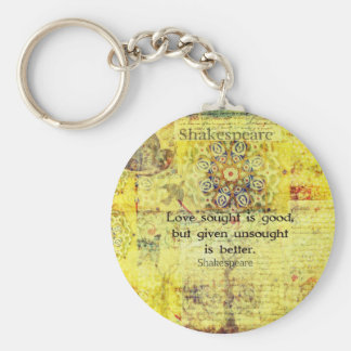 Love sought is good, but given unsought is better key ring