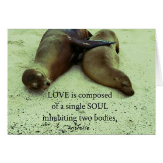 Love soulmates Aristotle quote Card