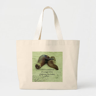 Love soulmates Aristotle quote Large Tote Bag