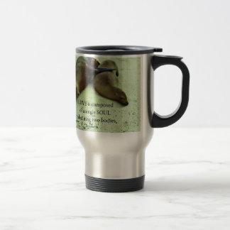 Love soulmates Aristotle quote Travel Mug