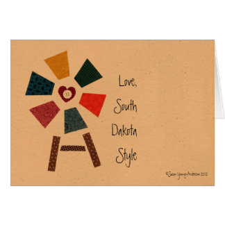 Love, South Dakota Style Greeting Card