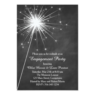 Love Sparkles Engagement Invitation