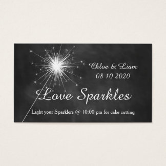 Love Sparkles - Sparkler Tag Business Card