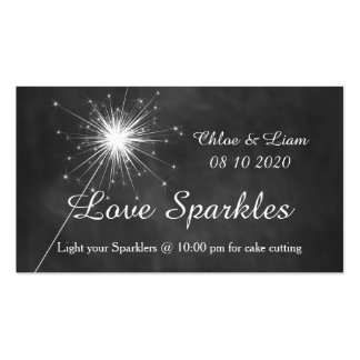 Love Sparkles - Sparkler Tag Pack Of Standard Business Cards