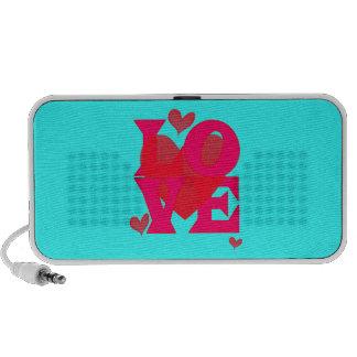 LOVE Speaker, Hearts & Blue Laptop Speakers