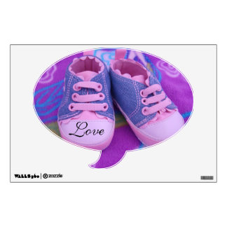 Love speech bubble wall decals Pink Baby Shoes