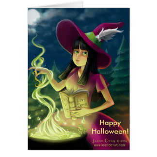 Love Spell Halloween Card