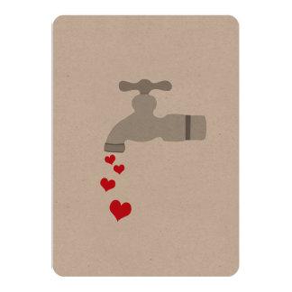 "Love Spigot 5"" X 7"" Invitation Card"