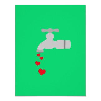 "Love Spigot 4.25"" X 5.5"" Invitation Card"