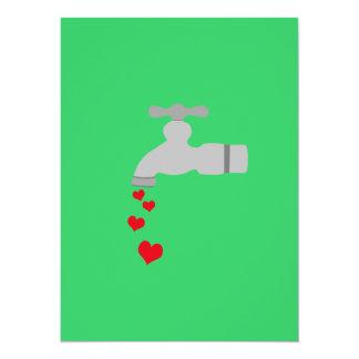 "Love Spigot 5.5"" X 7.5"" Invitation Card"