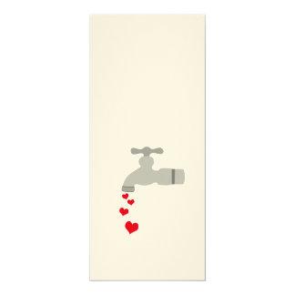 Love Spigot 10 Cm X 24 Cm Invitation Card