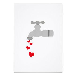 "Love Spigot 3.5"" X 5"" Invitation Card"