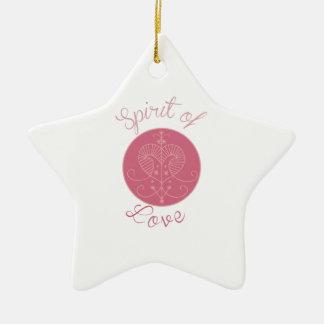 Love Spirit Ceramic Star Decoration