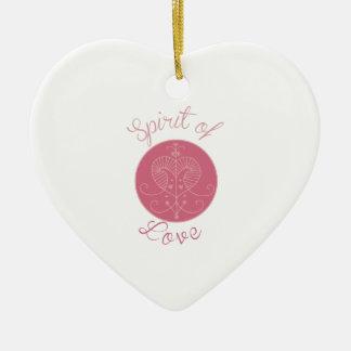 Love Spirit Double-Sided Heart Ceramic Christmas Ornament