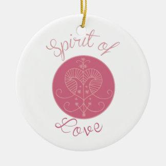 Love Spirit Round Ceramic Decoration