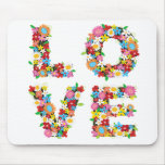 LOVE Spring Flowers Mousepad