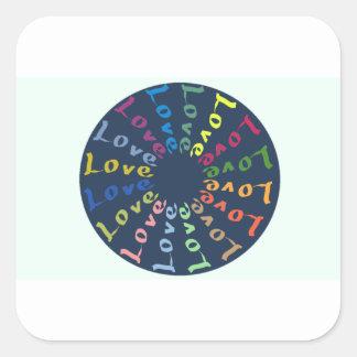 Love Square Sticker