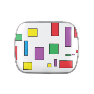 love squares on white candy tin by DAL