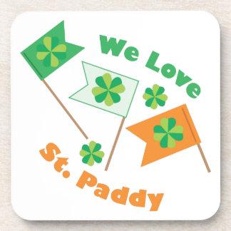 Love St Paddy Beverage Coaster