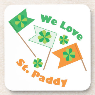 Love St Paddy Beverage Coaster