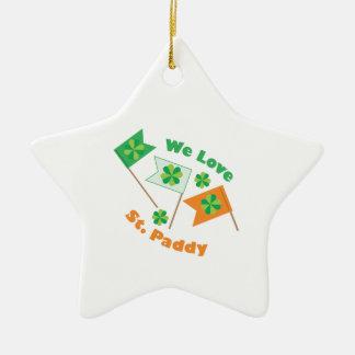 Love St Paddy Ceramic Star Ornament