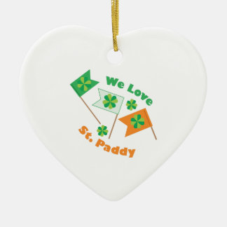 Love St Paddy Ceramic Heart Decoration