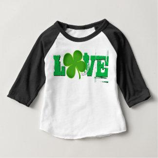 LOVE ST. PATRICK'S DAY BABY RAGLAN CLOVER BABY T-Shirt