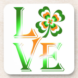 Love St Patrick's Day Coaster