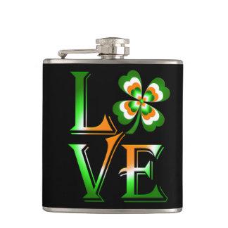 Love St Patrick's Day Flask