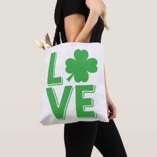 Love St. Patrick's Day Irish Shamrock Cute Tote Bag