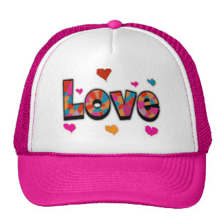 """""""LOVE"""" Stained Glass Look Gifts Hats"""