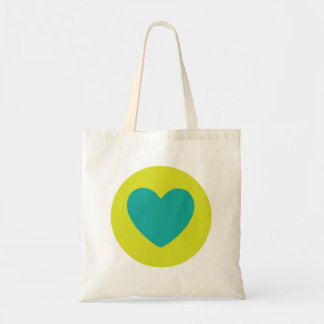 Love Stamp: Green & Blue Budget Tote Bag
