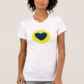 Love Stamp:  Yellow & Navy T-shirts