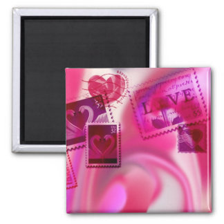 love stamps square magnet