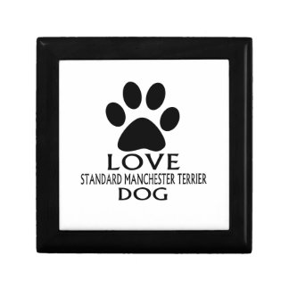LOVE STANDARD MANCHESTER TERRIER DOG DESIGNS GIFT BOX