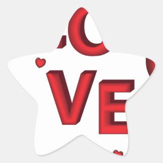 Love Star Sticker
