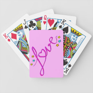 Love Stars Bicycle Playing Cards