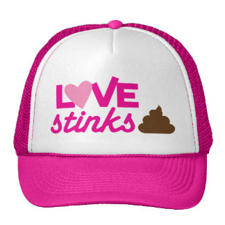 love stinks ! with poo and stink! cap