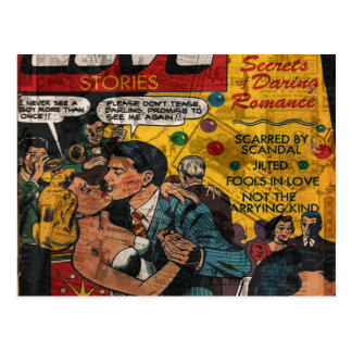 Love stories postcard