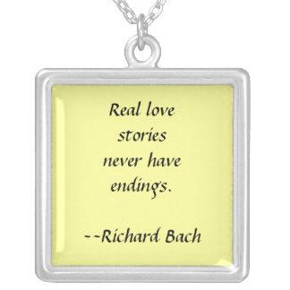 Love Stories Square Pendant Necklace