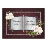 Love Story Book- Wedding Vow Renewal 13 Cm X 18 Cm Invitation Card