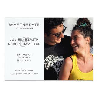 Love Story   Modern Photo Save the Date Card 13 Cm X 18 Cm Invitation Card