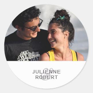Love Story | Modern Photo Wedding Sticker