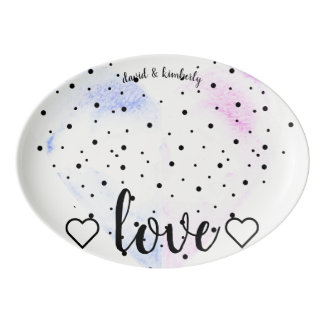 Love Story Porcelain Serving Platter