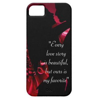 Love story quote kiss lover background case for the iPhone 5